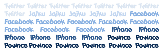 twitter, jaiku, facebook, iphone, pownce