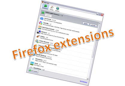 firefox extensions, add-ons or pluggins