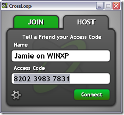 crossloop host tab